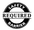 Safety Barrier Required Logo